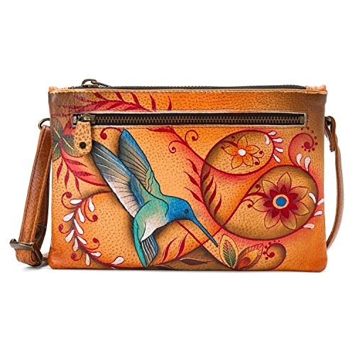 Anuschka Handpainted Leather Organizer Wallet With Smart Phone Case