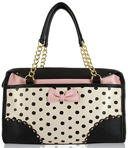 Betsey Johnson Removable Pouch Scallop Satchel Bag ( 2 Piece )
