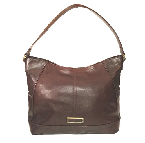 Tignanello, Top Handle Leather Tote, Rich Dark Brown