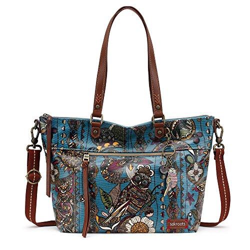 Sakroots Women's Artist Circle City Satchel Top Handle Handbag