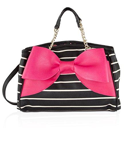 Betsey Johnson Bow Wagon Top Handle Satchel Bag