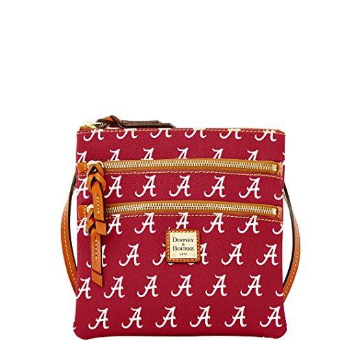 Dooney and Bourke Alabama Crimson Tide Triple Zip Crossbody Handbag