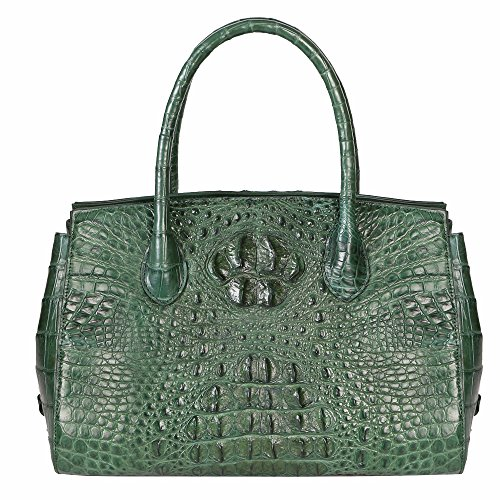 STDEYN Women's Real Crocodile Skin Evening Party Purse Clutch Luxury Tote Handbag Green