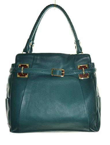 Elliott Lucca CORDOBA genuine leather belted tote handbag