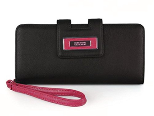 Kenneth Cole Reaction Women's Distressed Tab Clutch Wristlet Wallet