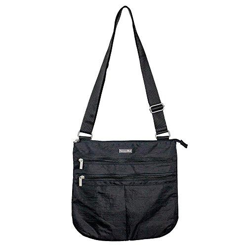 Baggallini Large Zip N Go Crossbody Bag Black