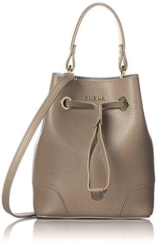 Furla Women's Stacy Mini Cross Body Bucket Bag, Daino , One Size