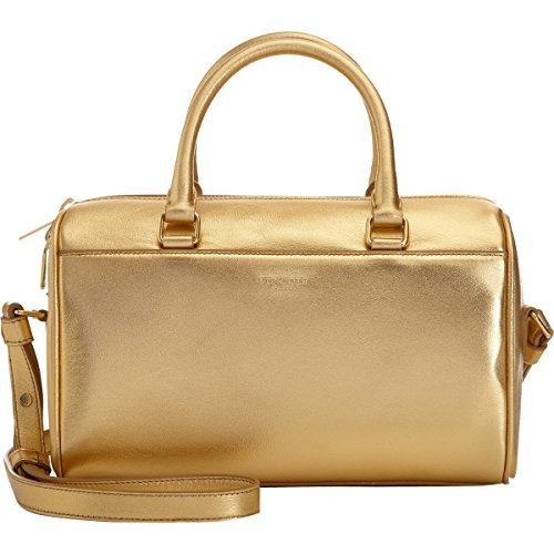 Saint Laurent Classic Sac Mini Baby Duffle Shoulder Bag Gold Metallic Leather Satchel Purse 330958