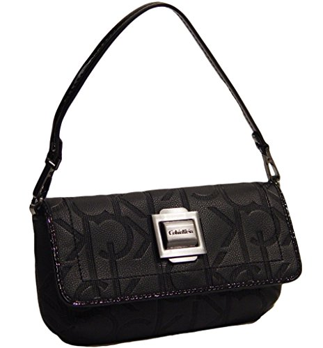 Calvin Klein Logo Embossed Wristlet Clutch Wallet Bag, Black