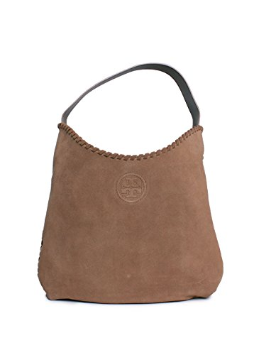 Tory Burch Marion Suede Hobo in River Rock