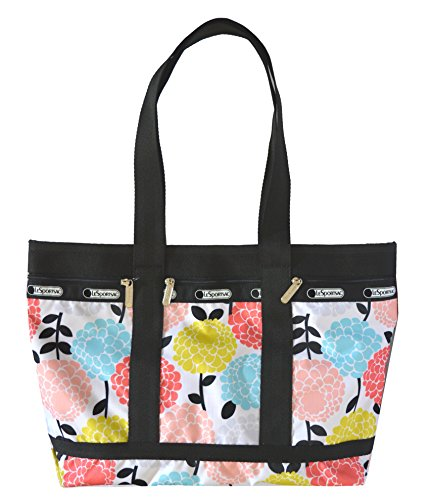 LeSportsac Medium Travel Tote Shoulder Handbag Bag Purse Garden Mum