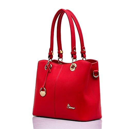 Lucca Cow Leather Top-Handle Shoulder Satchel Handbag LSC001