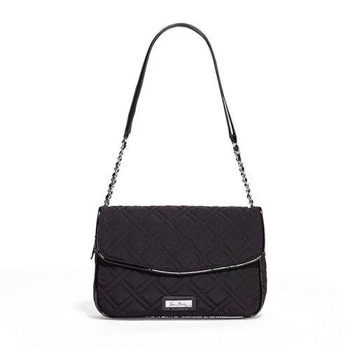 Vera Bradley Chain Shoulder Bag (Classic Black with Black Trim)