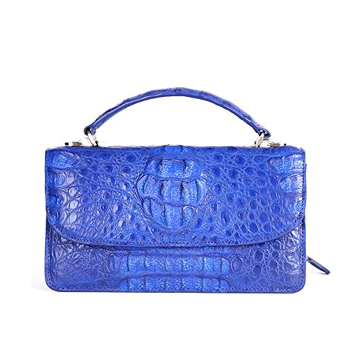 STDEYN Women's Crocodile Leather Ladies Handbag Evening Party Bag Blue
