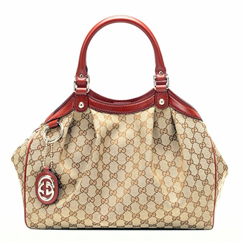 Gucci Sukey Red Leather Top Handle Bag