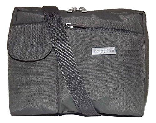 Baggallini Women's Special Edition Wallet Bagg Crossbody Shoulder Bag Zebra Grey