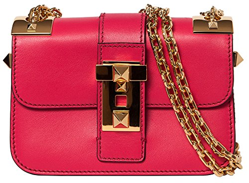 Valentino Small Fuchsia 'B-Rockstud' shoulder bag