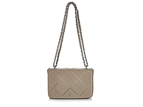 Tory Burch French Gray Robinson Crosshatch Adjustable Shoulder Bag