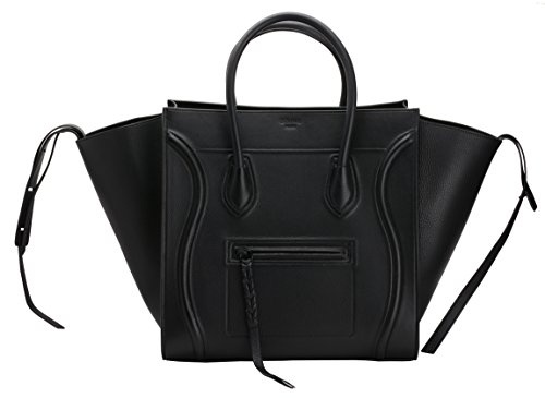 Celine Medium Luggage Phantom Tote Handbag Black