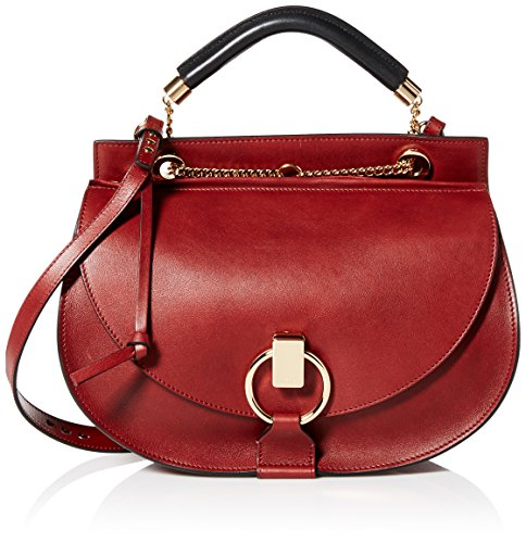 Chloé Women's Goldie Medium Clutch with Chain, Saffron Red