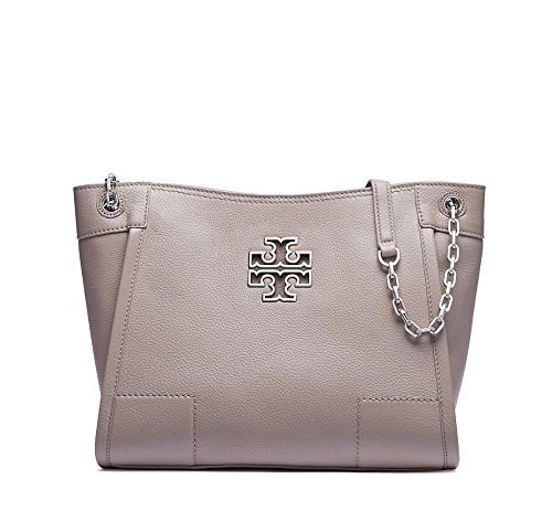 Tory Burch Britten Small Slouchy Tote in French Grey Style 41159877