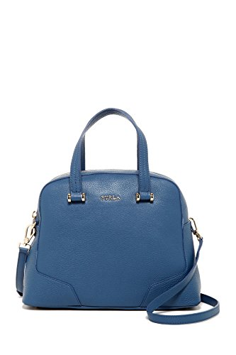 Furla Michelle Leather Dome Satchel Bag, Indaco