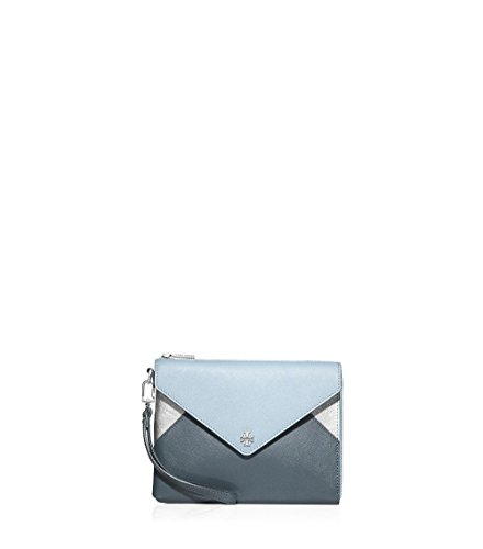 Tory Burch Block Wristlet (Metallic Fountain/Mud Silver)