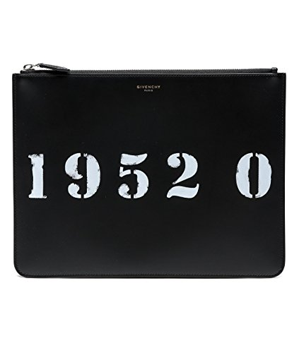 Wiberlux Givenchy Women's Number Print Real Leather Clutch Bag