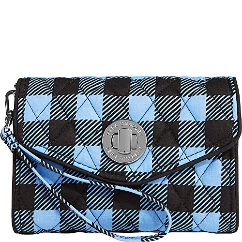 Vera Bradley Women's Your Turn Smartphone Wristlet Alpine Check Clutch