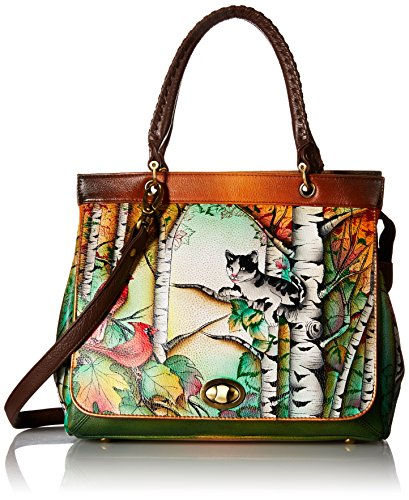 Anuschka Handpainted Leather 563-CCT Large Convertible Satchel