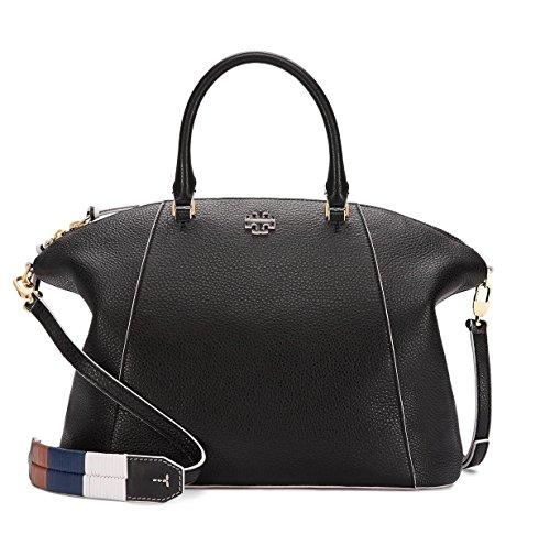 Tory Burch Medium Berkeley Black Leather Satchel Bag
