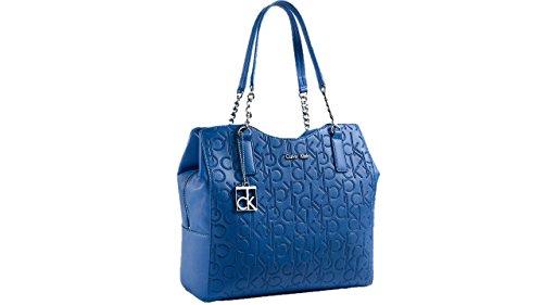 Calvin Klein Sadie Center Zip Hobo Bag Handbag Blue Wave