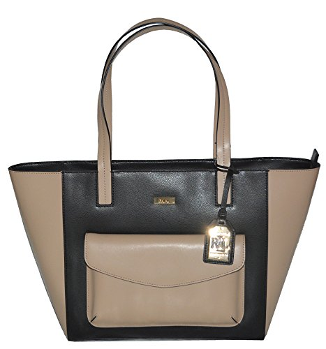 LAUREN Ralph Lauren Leather Bramley MD Tote Handbag Purse