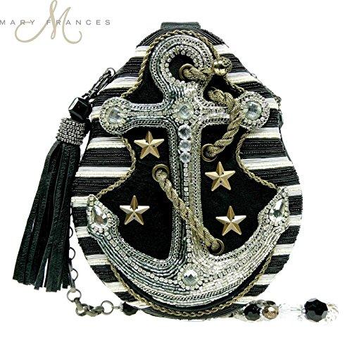 Mary Frances Handbag Hooked Anchor Sailor Ocean Cruise Beaded Jewel Shoulder Bag
