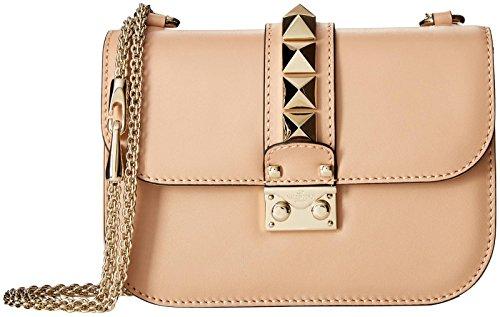 Valentino (Icon) Women's Small Chain Shoulder Bag, Tan, One Size
