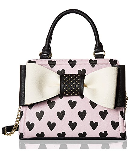 Betsey Johnson Women's Studded Bow Satchel