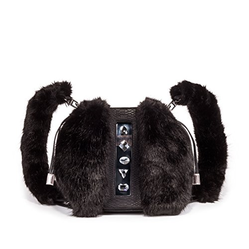 KULU Vegan Designer Backpack for Women , Luxury Faux Fur Handbag