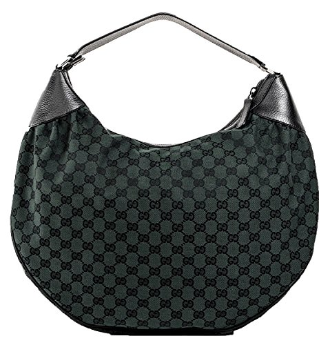 Gucci Women's Green Canvas Large Hobo Bag