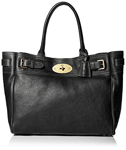 Mulberry Women's Bayswater Tote Bag in Black/Brass