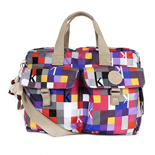 Kipling New Baby Bag with Changing Mat Squared Berry Print