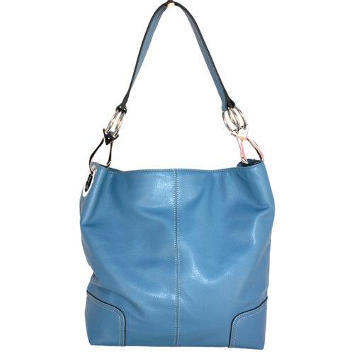 Classic Tall Large TOSCA Hobo Shoulder Handbag True Blue Silver Buckles Italy