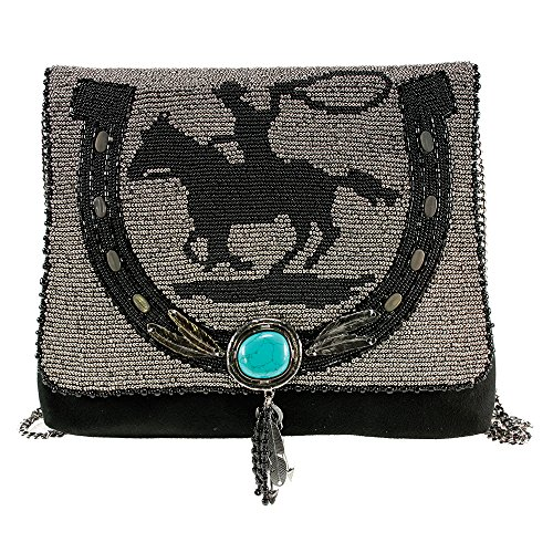 MARY FRANCES Cowgirl Horse Western Winter Bag Handbag Purse Beaded NEW
