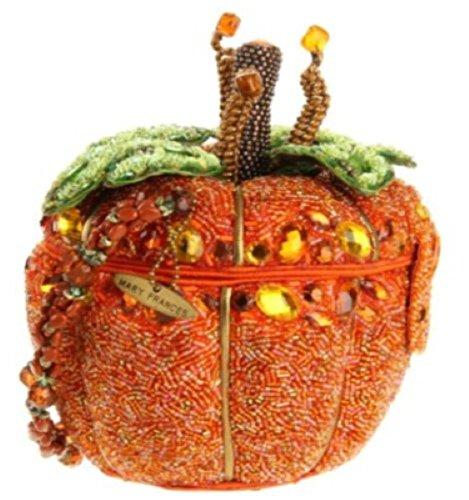 Mary Frances After Midnight Beaded Jeweled Halloween Autumn Fall Pumpkin Purse Handbag