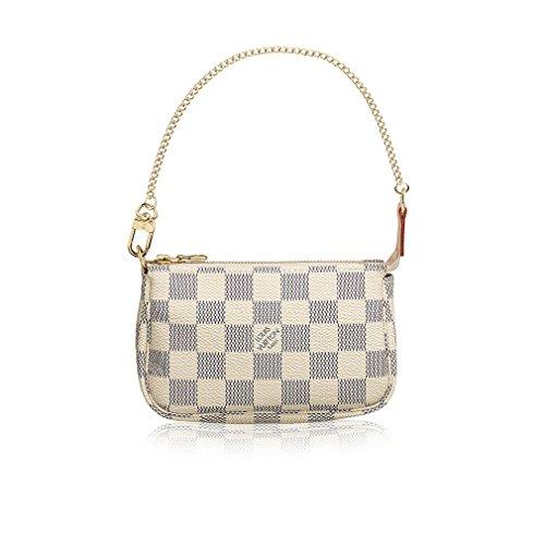Louis Vuitton Damier Azur Canvas Mini Pochette Accessoires N58010 Made in France