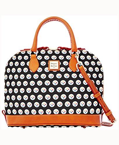Dooney and Bourke Pittsburgh Steelers Zip Zip Satchel Handbag