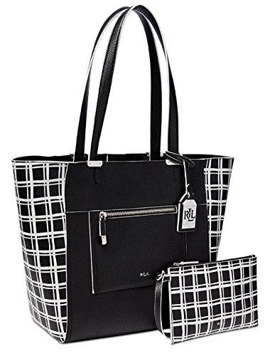 Lauren Ralph Lauren Paley Lauryn Bag‑in‑Bag Tote, Black Window