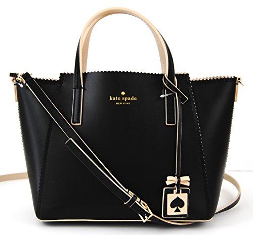kate spade new york Ivy Drive Small Ivy Black Ostegg Satchel Shoulder Bag Handbag