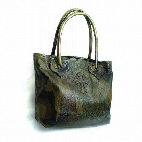 CHROME HEARTS CH cross FS tote bag in camo Leather