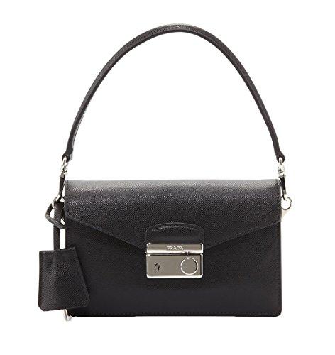 Prada Saffiano Lux Mini Sound Bag, Nero Black