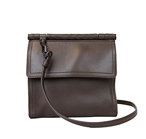 Bottega Veneta Women's Brown Leather Mini Messenger Shoulder Bag 323966 2540